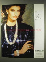 1988 Mikimoto Pearls Ad - Extravagance is Forgiven