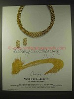 1988 Van Cleef & Arpels Jewelry Ad - The Artistry Of