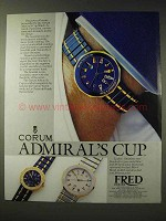 1986 Corum Admiral's Cup Watch Ad