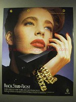 1986 Black, Starr & Frost Gold Jewelry Ad