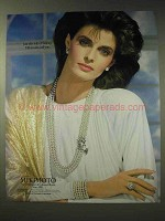 1986 Mikimoto Pearls Ad - Just This Side of Fantasy