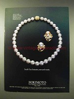 1982 Mikimoto South Sea Pearls Ad - Rare and Exotic