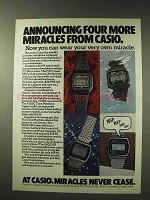 1979 Casio Watch Ad - F8c, F200C Time Machine, 95QS31B