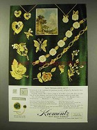 1964 Krementz Jewelry Ad - The Treasured Gift