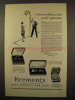 1927 Krementz Jewelry Ad - Set No. 2433, No. 2198
