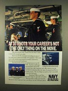 1992 U.S. Navy Ad - Your Career's On The Move