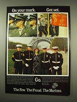 1978 U.S. Marines Ad - On Your Mark Get Set Go