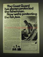 1977 U.S. Coast Guard Ad - We're Protecting Fish, Too