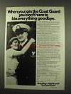 1977 U.S. Coast Guard Ad - Don't Kiss Goodbye