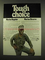 1976 U.S. Marines, Marine Reserve Ad - Tough Choice
