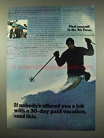1973 U.S. Air Force Ad - 30-Day Paid Vacation