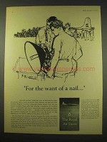 1960 Royal Air Force Ad - For the Want of a Nail