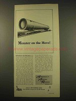 1949 Association of American Railroads Ad - Monster