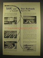 1949 Association of American Railroads Ad - You
