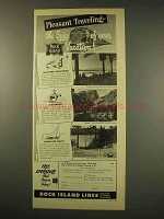 1949 Rock Island Lines Railroad Ad - Pleasant Traveling