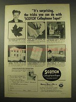 1949 3M Scotch Cellophane Tape Ad - The Tricks You Do