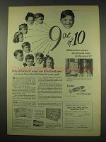 1949 Ipana Toothpaste Ad - 9 Out of 10 Children