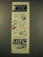 1949 Plastic Wood Ad - Try These Slick Tricks
