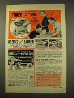 1949 Dremel Electric Sander, Electric Coping Saw Ad
