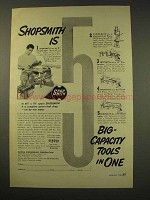 1949 ShopSmith Tool Ad - 5 Big-Capacity Tools In One