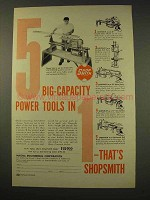 1949 ShopSmith Tool Ad - 5 Big-Capacity Power Tools