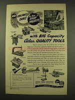 1949 Atlas Press Tool Ad - Jointer, Table Saws, Jig Saw