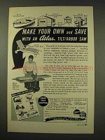 1949 Atlas Press Tilt/Arbor Saw Tool Ad - Make Your Own