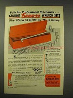 1949 Snap-On Tools Wrench Set Ad - Basic Set 319-M-B