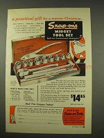 1949 Snap-On Tools Midget Tool Set Ad - X115-TMB