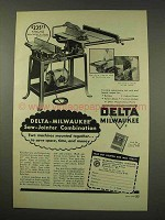 1949 Delta-Milwaukee Saw-Jointer Combination Tool Ad