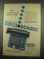 1957 Marchant Deci Magic Calculator Ad - Ends Drift