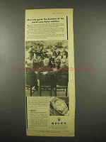 1957 Rolex Oyster Watch Ad - Guide Destinies of World