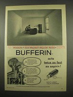 1957 Bufferin Tablets Ad - Headache? Cold Miseries?