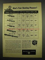 1957 Bausch & Lomb Rifle Scope Ad - BALfor, BALvar 24