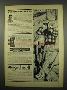 1957 Bushnell Rangemaster Binoculars, Rifle Scope Ad