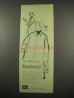 1957 Burberry Fashion Ad - The Double Life