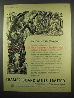 1957 Thames Board Mills Limited Ad - Best-Seller Bamboo