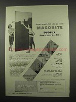 1957 Masonite Duolux Ad - Both Sides Are Smooth!