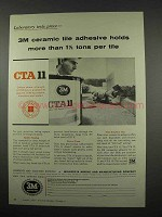 1957 3M CTA 11 Ceramic Tile Adhesive Ad - Holds More