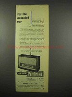 1957 Grundig Pembroke Radio Ad - For Educated Ear