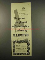 1957 Harveys Wine Ad - Complement to Christmas Fare