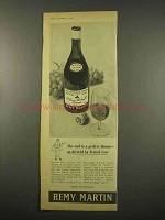 1957 Remy Martin Cognac Ad - Decreed by French Law