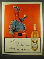 1957 Grant's Stand Fast Scotch Ad - Merry Christmas