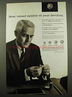 1957 De Beers Diamond Ad - Symbol of Your Devotion