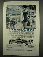 1957 Trailways Bus Ad - For Travel