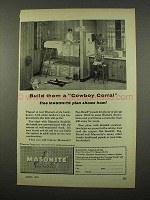 1957 Masonite Seadrift, Peg-board Panel Ad - Cowboy