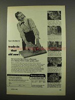 1957 Porter-Cable Saw Ad - Trade in That Old Saw