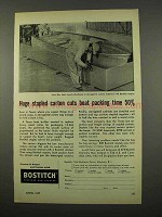 1957 Bostitch Staples Ad - Huge Stapled Carton