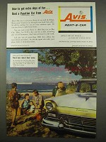 1957 Avis Rent-a-Car Ad - Get Extra Days of Fun