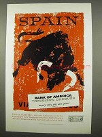1957 Bank of America Travelers Cheques Ad - Spain